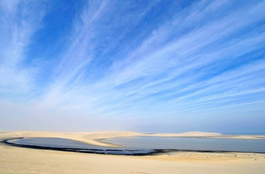 Khor Al Udeid Beach, Khor El Deid, Inland Sea, desert miracle of Qatar, Emirate of Qatar, Persian Gulf, Middle East, Asia : Stock Photo
