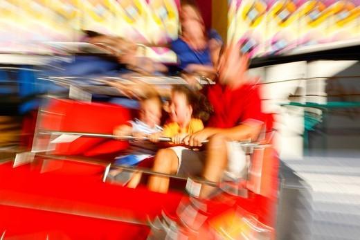 Carousel, folk festival, Muehldorf am Inn, Bavaria, Germany, Europe : Stock Photo