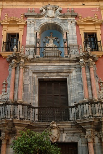Cathedral, historic centre of Malaga, Costa del Sol, Andalusia, southern Spain, Spain, Europe : Stock Photo