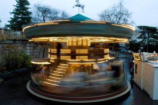 Stock Photo: 1848-425794 Carousel, Montmartre, Paris, France, Europe