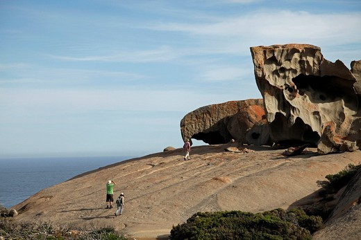 Remarkable Rocks, rock formations in Flinders Chase National Park on Kangaroo Island, South Australia, Australia : Stock Photo