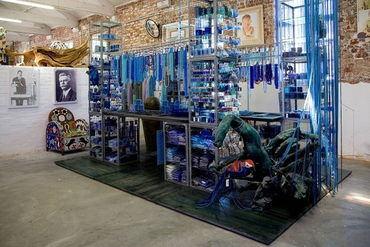 The old Biscuitmill, beads and jewelry accessories, Albert Road, Woodstock, Mielie Design bag, South Africa, Africa : Stock Photo