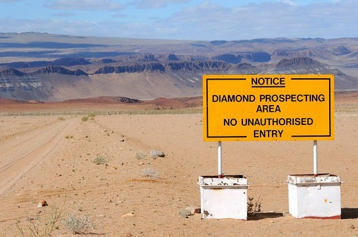 Diamond prospecting area, Richtersveld, South Africa : Stock Photo