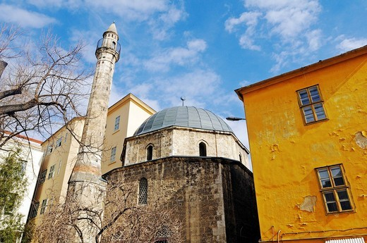 Stock Photo: 1848-429106 Mosque of Pasha Jakowali Hassan from the time of Turkish rule and its single minaret, Hungary, Pécs, European Capital of Culture 2010, Hungary, southern Hungary, Europe