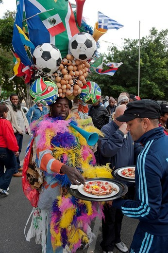 Football fans queuing up to buy tickets for the 2010 FIFA World Cup, Cape Town, South Africa, Africa : Stock Photo