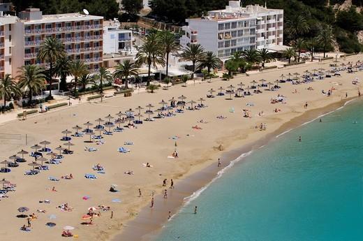 Cala de Sant Vicent, Ibiza, Pine Islands, Balearic Islands, Spain, Europe : Stock Photo