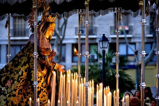 Stock Photo: 1848-429649 La Virgen de la Esperanza madonna, Semana Santa, Holy Week, Palma de Majorca, Majorca, Balearic Islands, Spain, Europe