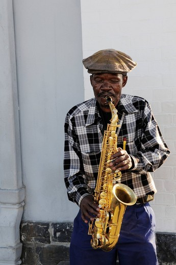 Stock Photo: 1848-429826 Musician, V & A Waterfront, Cape Town, Western Cape, South Africa, Africa