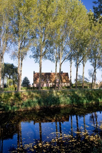 Stock Photo: 1848-432383 Canal at Damme, Flanders, Belgium, Europe