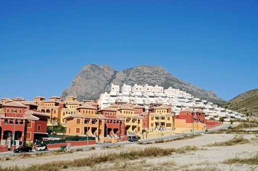 New constructions, settlement, town houses, building boom, Benidorm, Costa Blanca, Alicante province, Spain, Europe : Stock Photo