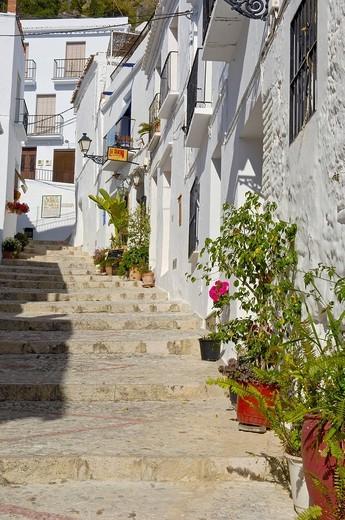 Frigiliana, Axarquía mountains region, Málaga province, Costa del Sol, Andalusia, Spain, Europe : Stock Photo
