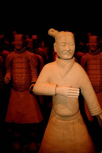 Terracotta Army exhibition, faithful replicas of the statues from XIAN in China, Weilburg an der Lahn, Hesse, Germany, Europe : Stock Photo