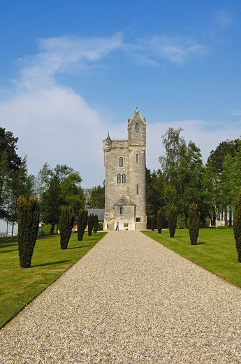 Stock Photo: 1848-43347 Ulster tower, British First World War Cemetery, Pas_de_Calais, Somme valley, France, Europe
