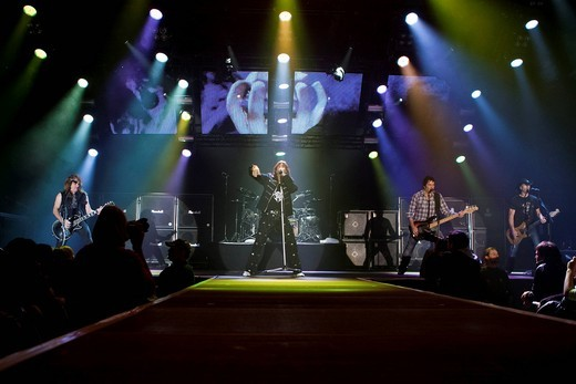 Stock Photo: 1848-435079 The Swiss rock band Gotthard live at the Stadthalle Sursee, Lucerne, Switzerland