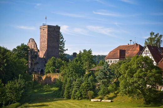 Stock Photo: 1848-435585 Burgruine Zavelstein ruins Bad Teinach_Zavelstein, Black Forest, Baden_Wuerttemberg, Germany, Europe