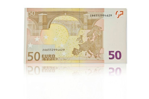 50 euro banknote, back : Stock Photo