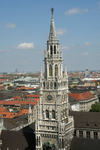 Stock Photo: 1848-436746 New town hall, Marienplatz Square, Munich, Bavaria, Germany, Europe