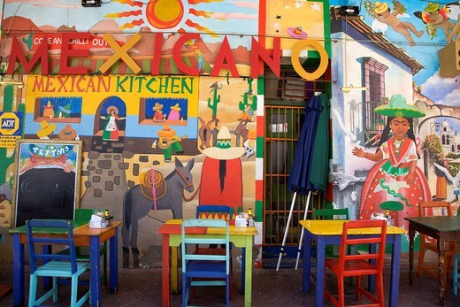 Mexican restaurant, Long Street, Cape Town, Western Cape, South Africa, Africa : Stock Photo