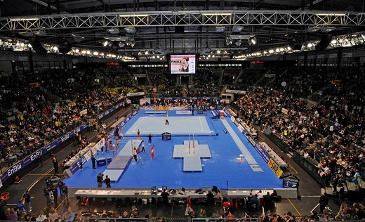 EnBW Gymnastics World Cup 2009, Porsche_Arena Stuttgart, Baden_Wuerttemberg, Germany, Europe : Stock Photo