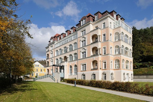 D´Orange residential apartments in Neuhaus, Triesting Valley, Lower Austria, Austria, Europe : Stock Photo