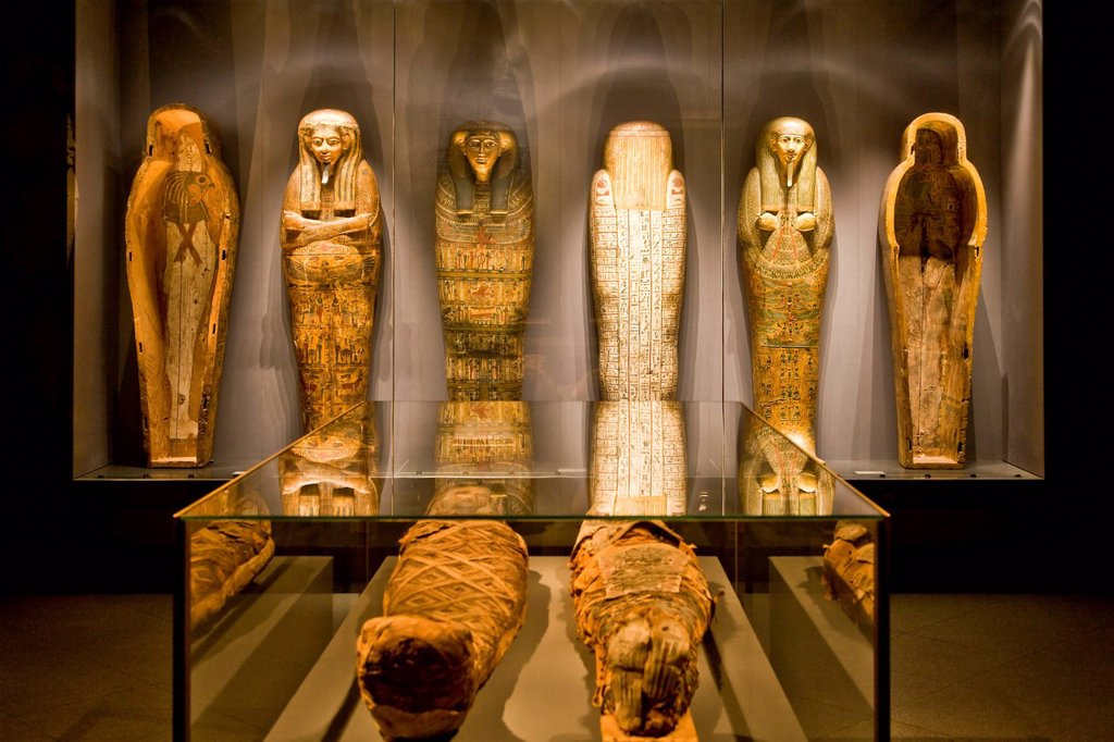 Mummies, Glyptotek, Copenhagen, Denmark, Europe : Stock Photo