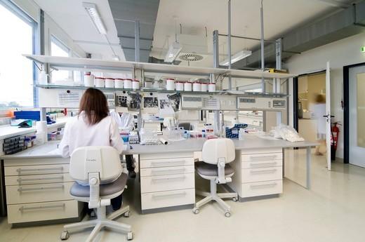 Gene laboratory : Stock Photo