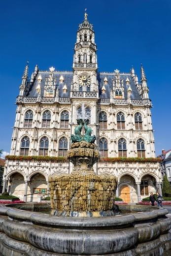 City Hall in Oudenaarde, Belgium, Europe : Stock Photo