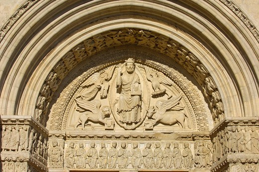 Stock Photo: 1848-438929 Saint Trophime cathedral at Place de la Republique, Arles, Bouches du Rhone, Provence, France, Europe