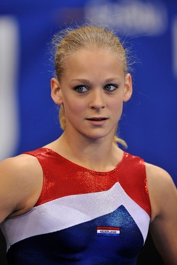 Stock Photo: 1848-438949 Marlies Rijeken, The Netherlands, EnBW Gymnastics World Cup 2009, Porsche_Arena, Stuttgart, Baden_Wuerttemberg, Germany, Europe