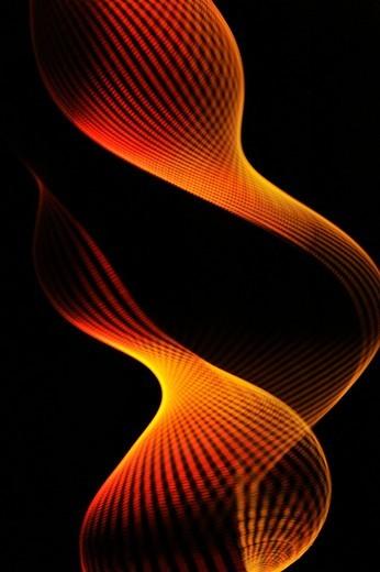 Rotating thread illuminated with a stroboscopic flash : Stock Photo