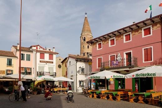 Picturesque town centre, Caorle, Adriatic region, Veneto, Italy : Stock Photo