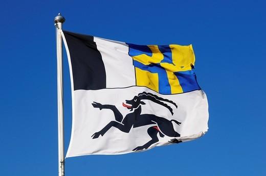 Stock Photo: 1848-439629 Flag of Grisons, Switzerland, Europe