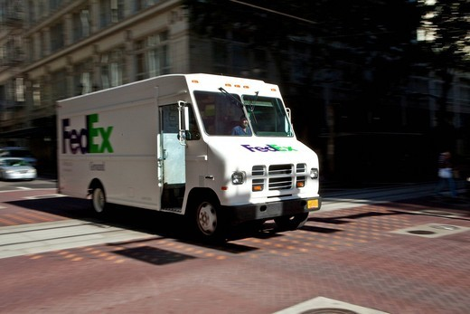 Stock Photo: 1848-439843 American vehicle by FedEX, Portland, Oregon, USA
