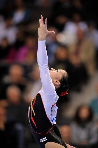 Stock Photo: 1848-440273 Kim Bui, Germany, floor exercies, EnBW Gymnastics World Cup 2009, Porsche_Arena, Stuttgart, Baden_Wuerttemberg, Germany, Europe
