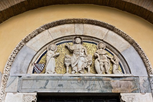 Stock Photo: 1848-440338 Church of Santa Sofia Benevento, Archeological Museum, Campania, Italy, Europe