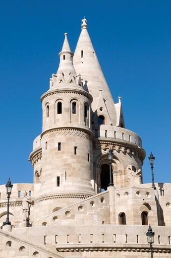 Stock Photo: 1848-440412 Fishermen´s Bastion, Budapest, Hungary, Europe
