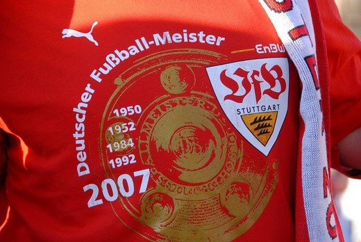 Stock Photo: 1848-4409 VfB Stuttgart Stuttgart Football Club 2007 Bundesliga championship celebrations at the Schlossplatz in Stuttgart, Baden_Wuerttemberg, Germany, Europe