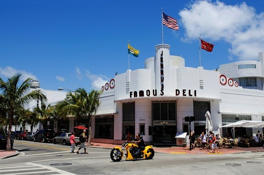 Jerry´s Famous Deli, Miami South Beach, Art Deco district, Florida, USA : Stock Photo