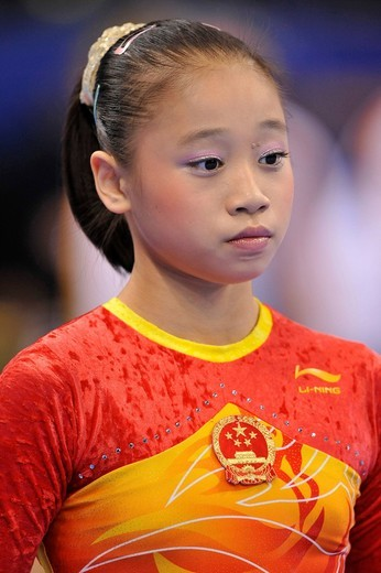 Stock Photo: 1848-441587 Lu Sui, China, EnBW Gymnastics World Cup 2009, Porsche_Arena, Stuttgart, Baden_Wuerttemberg, Germany, Europe