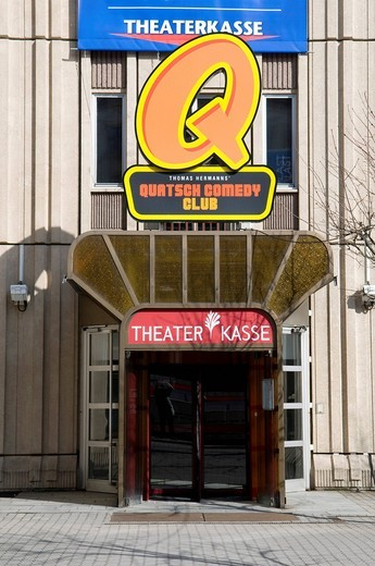 Ticket office, Quatsch Comedy Club at the Friedrichstadtpalast Theatre, Berlin, Germany, Europe : Stock Photo