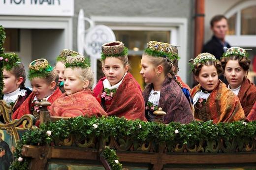 Leonhardi parade in Bad Toelz _ Upper Bavaria : Stock Photo