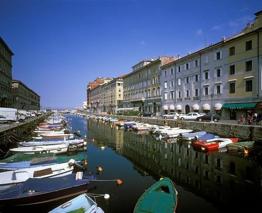 Canal Grande, Trieste, Friuli_Venezia Giulia, Italy : Stock Photo