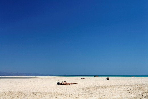 Playa de Sotavento , Jandia , Fuerteventura , Canary Islands : Stock Photo