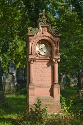 Grave of Richard Jakob August von Voit, 1801_1870, architect, Alter Suedfriedhof, old cemetery in Munich, Bavaria, Germany : Stock Photo