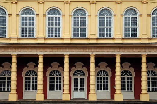 Stock Photo: 1848-444127 Detailed view of the Schlossgartensalon castle gardens pavilion, built in 1727_1737 by Johann Michael Hoppenhaupt, in the castle gardens, Oberaltenburg 2, Merseburg, Saxony_Anhalt, Germany, Europe