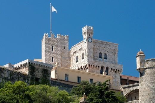 Prince´s palace, Palais Princier du Monaco, Monte Carlo, Cote d´Azur, Monaco, Europe : Stock Photo