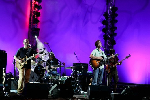 The US singer and songwriter Amos Lee and band live at the Blue Balls Festival in the concert hall of the KKL in Lucerne, Switzerland : Stock Photo