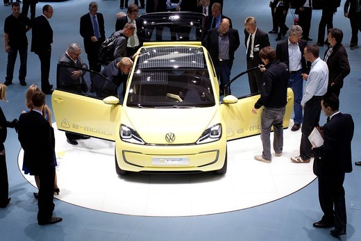 Stock Photo: 1848-445857 Study electric car e_up of the Volkswagen AG group at the 63. Internationale Automobilausstellung International Motor Show IAA 2009 in Frankfurt, Hesse, Germany, Europe