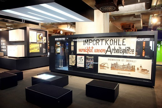 The new Ruhrmuseum museum, opened in January 2010, Capital of Culture year, in the former coal washing plant of the Zeche Zollverein mine, World Heritage Site, Essen, North Rhine_Westphalia, Germany, Europe : Stock Photo