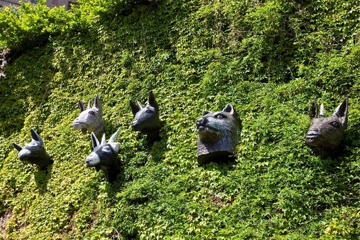 Stock Photo: 1848-447013 Characters from the tales of the Brothers Grimm, Grimm_Dich Pfad trail, Marburg, Hessen, Germany, Europe